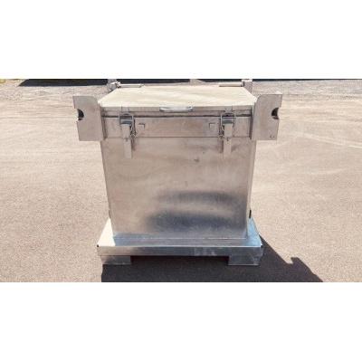 Skrzynia metalowa na niebezpieczne odpady stałe ASP LTH 600
