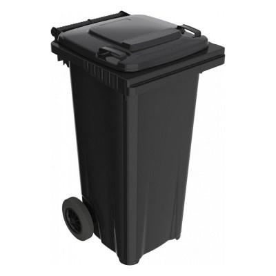 Plastikowy kosz na śmieci Elkoplast 120l, czarny C