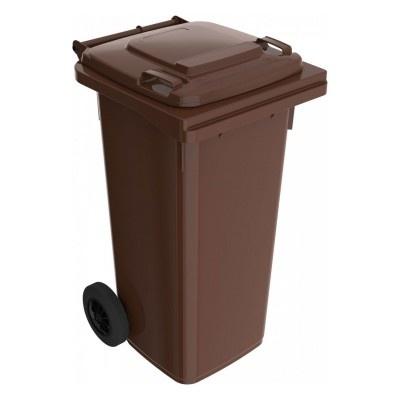 Plastikowy pojemnik na odpady ELKOPLAST 120 l, brązowy C