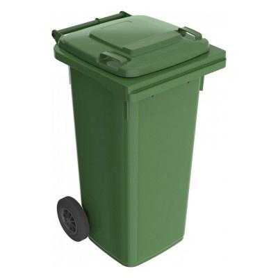 Plastikowy kosz na śmieci Elkoplast 120l, zielony K