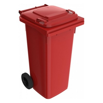 Plastikowy pojemnik na odpady ELKOPLAST 120 l, czerwony C