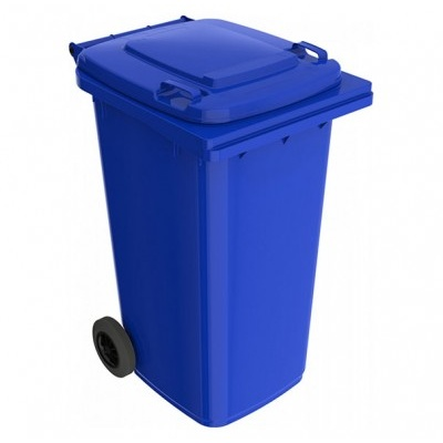 Plastikowy pojemnik na odpady ELKOPLAST 240 l, niebieski ST