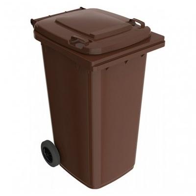 Plastikowy pojemnik na odpady ELKOPLAST 240 l, brązowy ST