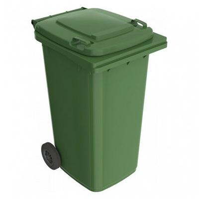 Plastikowy pojemnik na odpady ELKOPLAST 240 l, zielony ST