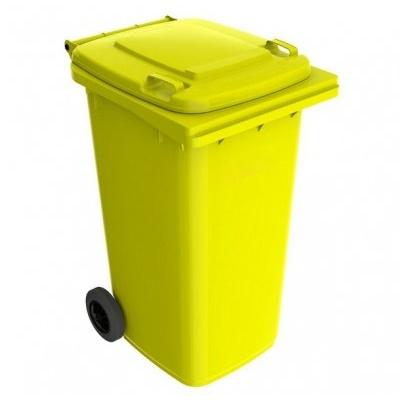 Plastikowy pojemnik na odpady ELKOPLAST 240 l, żółty ST