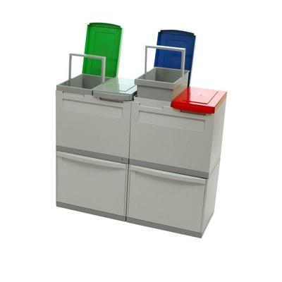 Kosz na segregowane odpady EKOMODUL 2x30 l + 4x15 l