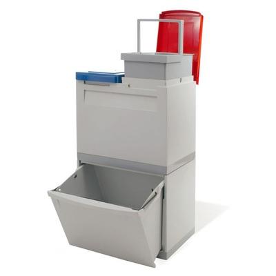 Kosz na segregowane odpady EKOMODUL 1x30 l + 2x15 l