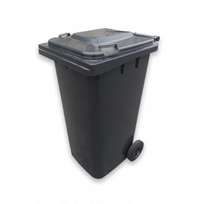 Plastikowy pojemnik na odpady ELKOPLAST 240 l, czarny ST