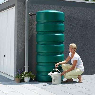Zbiornik ozdobny na deszczówkę Classico 650 l, zielony