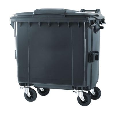 Plastikowy kontener na odpady komunalne 770 l, czarny