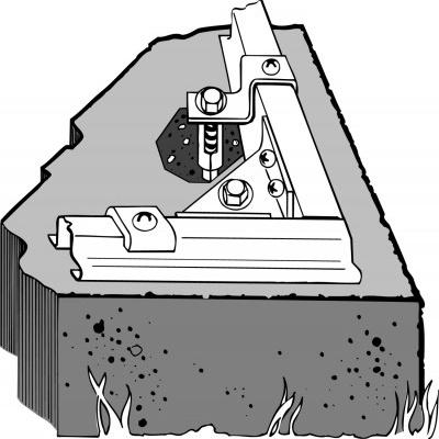 Zestaw kotw do domków ogrodowych ARROW - do betonu