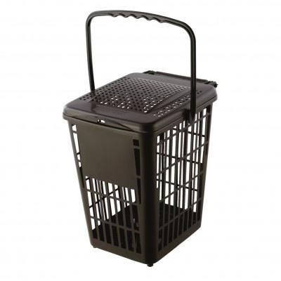 Pojemnik na odpady kuchenne Biodry 10 l, brązowy