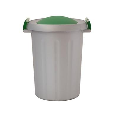 Kosz na śmieci do segregacji odpadów CLICK 25 l - szary pojemnik, czerwona pokrywa