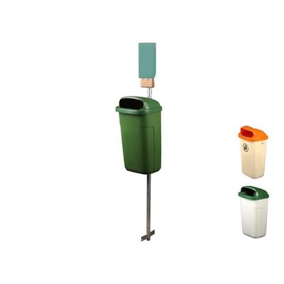 Kosz na odpady CLASSIC 50 l wraz z zasobnikiem na worki na psie odchody