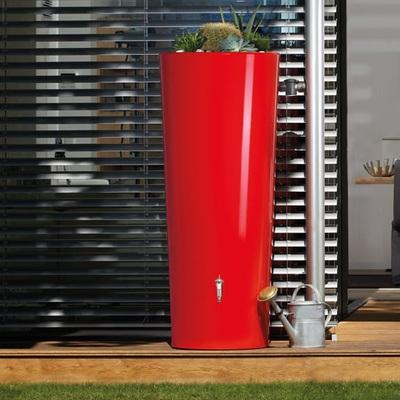 Zbiornik ozdobny na deszczówkę Vega 350 l, czerwony