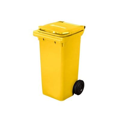 Plastikowy pojemnik na odpady ELKOPLAST 120 l, żółty C