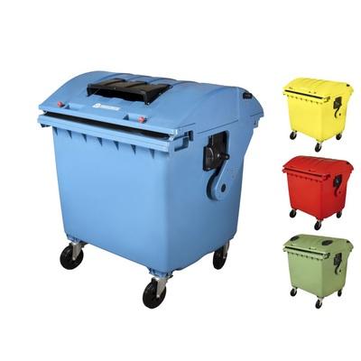 Plastikowy kontener 1100 l na odpady segregowane