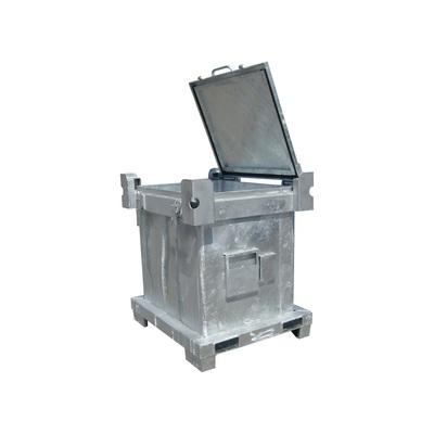 Kontener metalowy IBC na niebezpieczne odpady stałe ASP 600