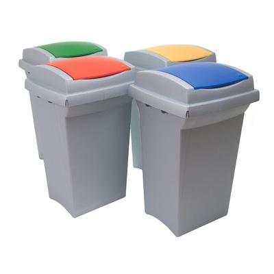 Kosz na śmieci do segregacji odpadów RECYCLING 50 l