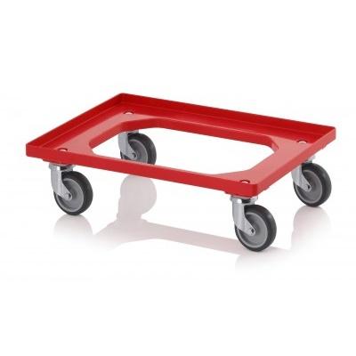 Wózek Eurocarrier z gumowymi kołami (2 regulowane, 2 stałe)