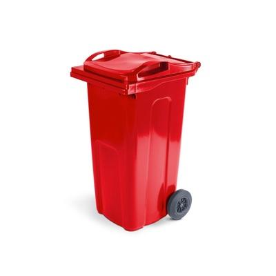Plastikowy pojemnik na odpady ELKOPLAST 240 l, czerwony ST