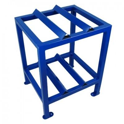 Metalowy stojak pionowy pod 2 beczki