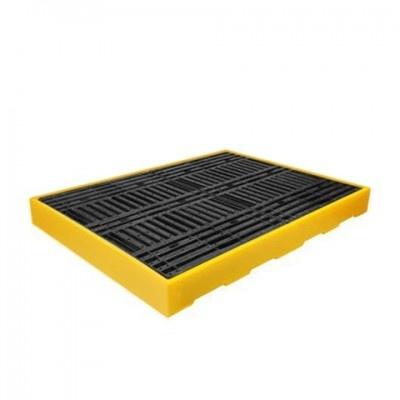 Podłoga wychwytująca o poj, 300l na 4 beczki z polietylenu-kolor żółty